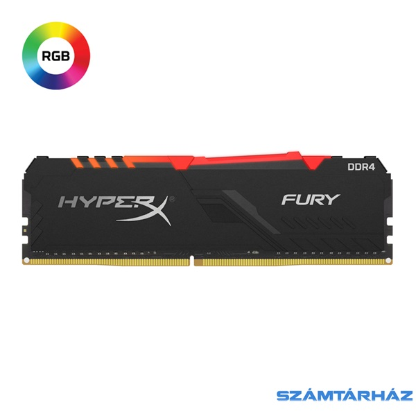 Kingston 8GB/2666MHz DDR-4 1Rx8 HyperX FURY RGB (HX426C16FB3A/8) memória