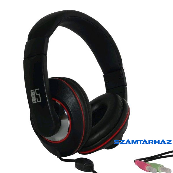 LEVEL5 LF-01 fekete Gaming Headset