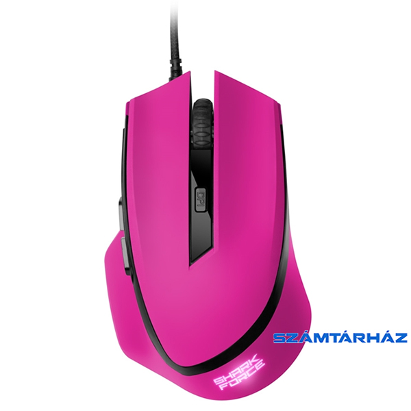 Sharkoon Shark Force pink optikai gaming egér