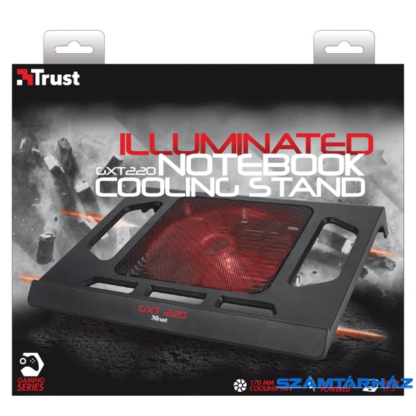 Trust GXT 220 Notebook Cooling Stand gamer hűtőpad