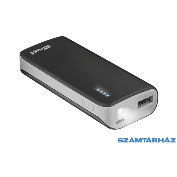Trust Urban Primo 5200mAh fekete power bank